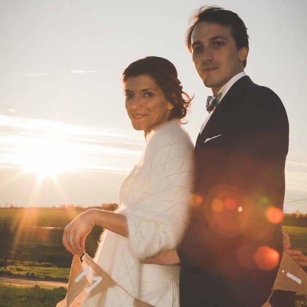 Heureux de nos photos prises par le professionnel Christophe Boury photographe de mariage
