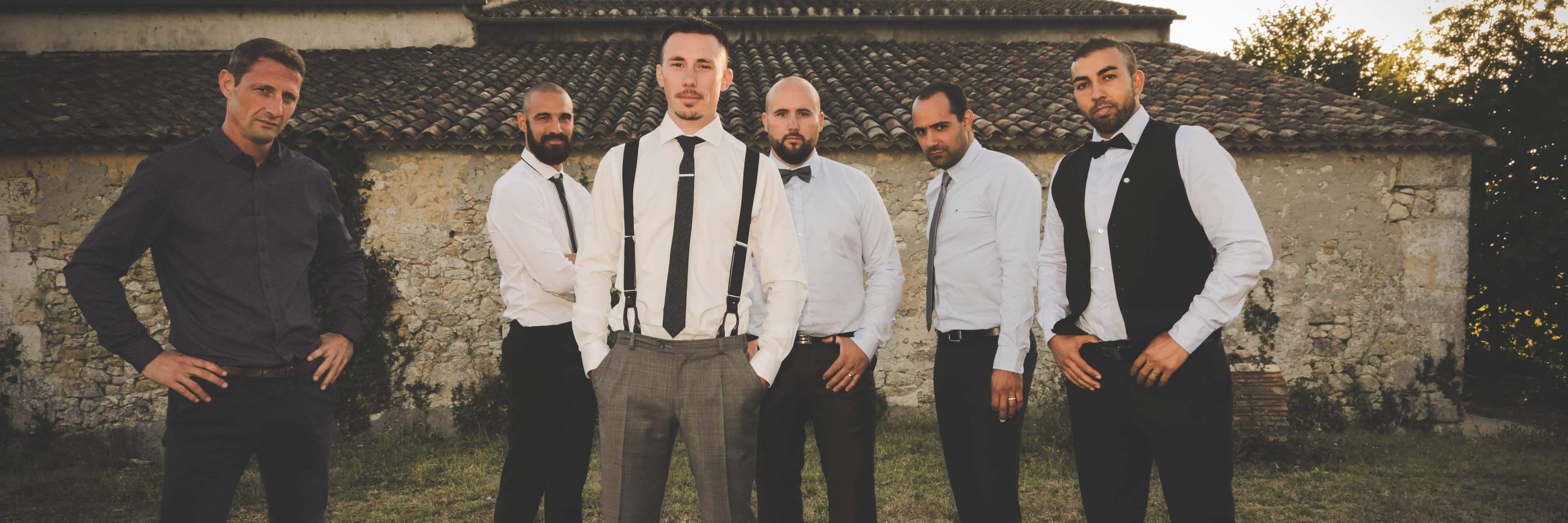 Photo avec les proches du couple Photo de présentation pour les mariés