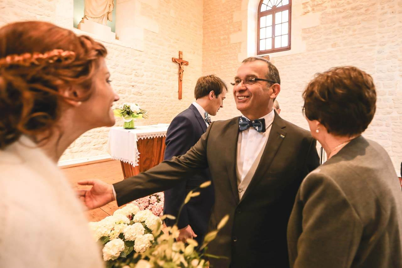 Le père de la mariée fier de Marie
