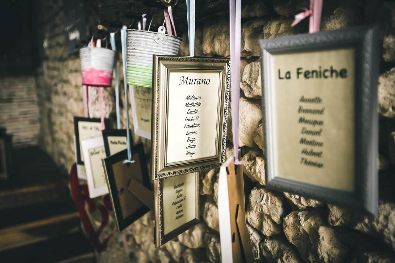 Photo de décoration pour mariage Chemin de table original pour mariage dans des cadres photo