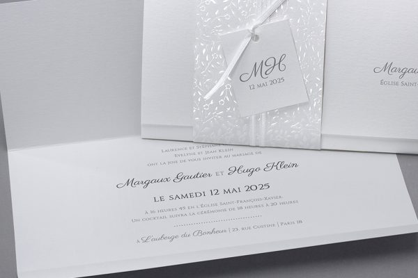 Faire-part de mariage produits de luxe de qualité personnalisé