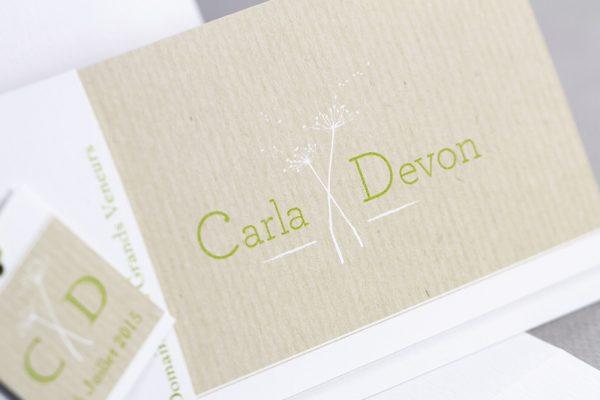 Faire-part de mariage sur papier Craft idées différentes et innovante