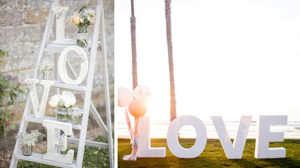 "Lettres ""LOVE"""