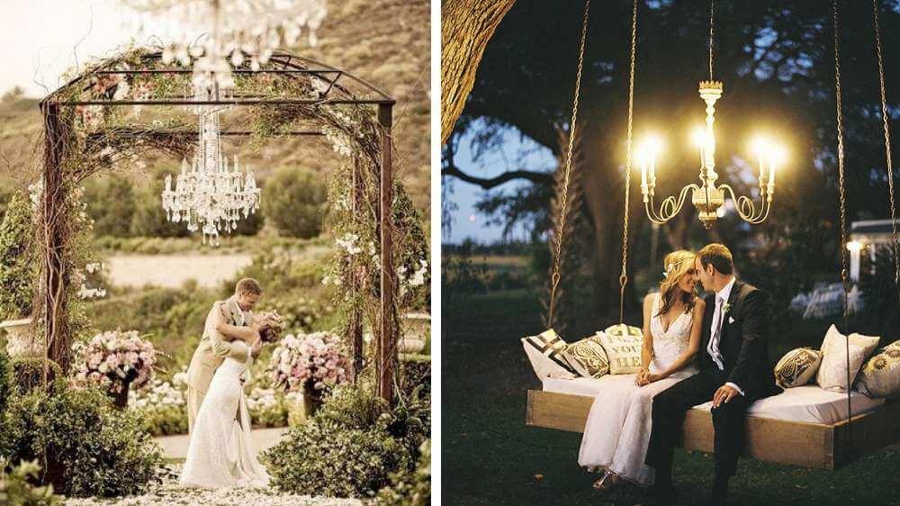 Idées de déco un lustre au style classique dans le jardin style est aime champêtres bobo chic chic