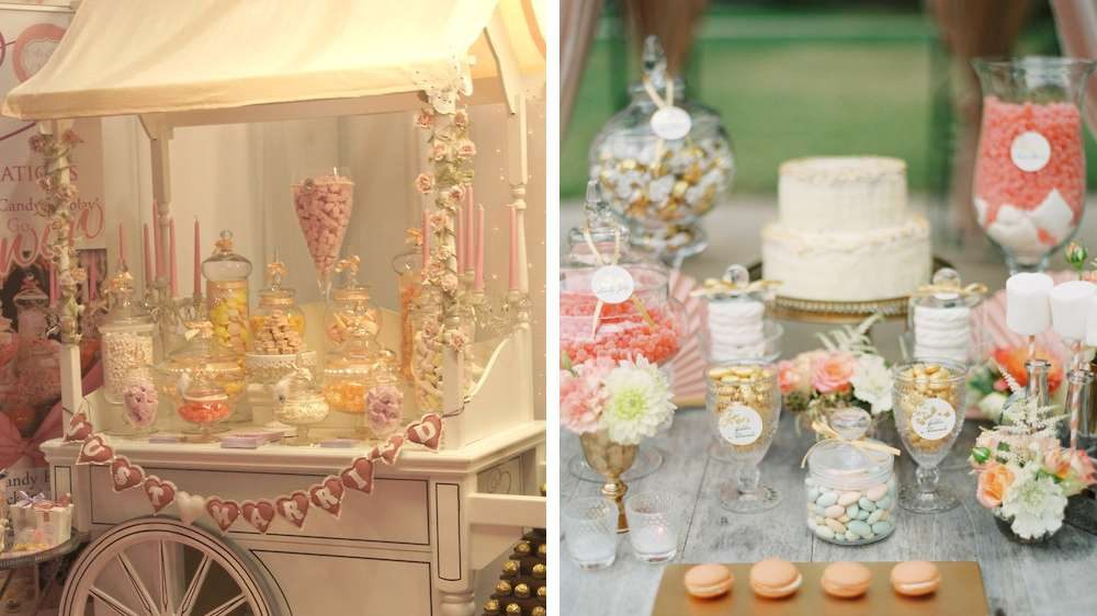 Idées de décoration un bar à bonbons très en vogue dans la décoration jouer avec les gourmandises