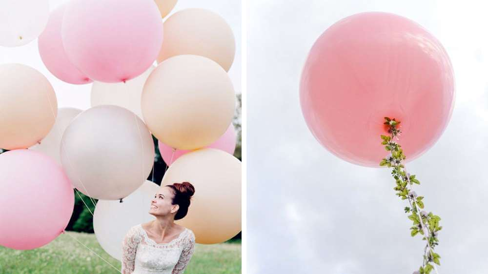 Il est de mariage des énormes ballons gonflés à l'hélium