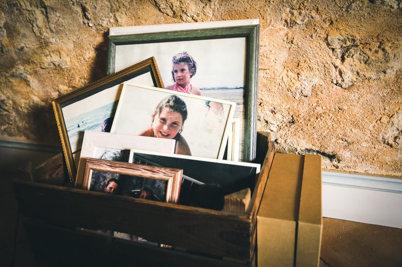 Mathilde et Cédric photos des photos d'enfance de la mariée Gisèle pour les paradis