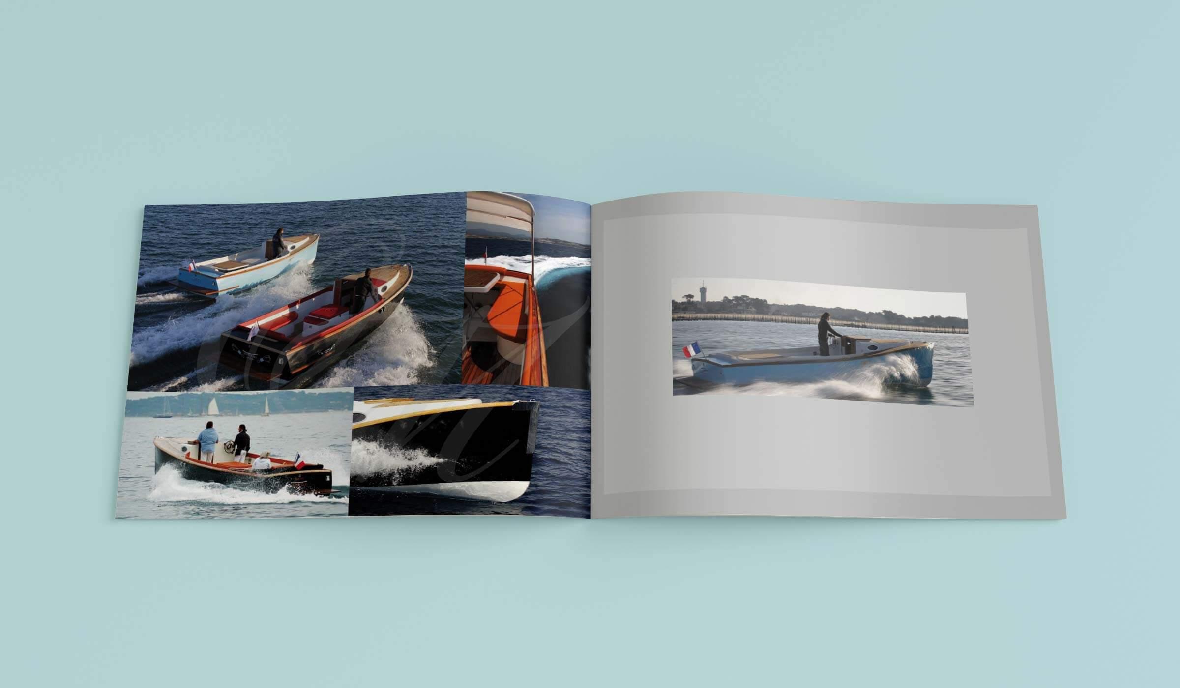 graphiste plaquette ostrea marine Plaquettes de luxe une pinasse de luxe avec du cuir de chez Lancelle