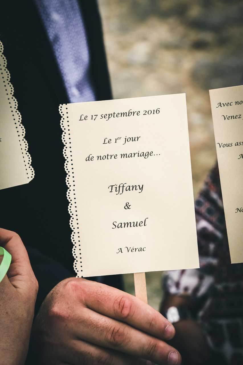 carte de mariage print joie dans un mariage Photographe de mariage Bordeaux gironde CB Tyffany & Samuel
