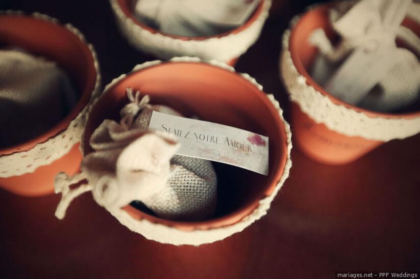 pot pour graine cadeaux pour les invités du mariage