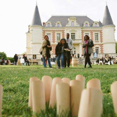 Afterwork Chateau Lamothe Bergeron avec des jeux Photographe Christophe Boury www.photographe-33.fr